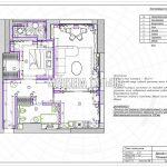 План плинтусов в дизайн проекте Малиевой Татьяны в ЖК Савеловский Сити, Москва 2018