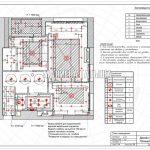 План освещения без мебели в дизайн проекте Малиевой Татьяны в ЖК Савеловский Сити, Москва 2018