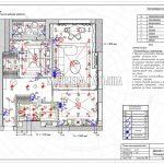 План выключателей в дизайн проекте Малиевой Татьяны в ЖК Савеловский Сити, Москва 2018