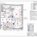 План выключателей без мебели в дизайн проекте Малиевой Татьяны в ЖК Савеловский Сити, Москва 2018