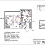 План выключателей в дизайн проекте в Мытищах ЖК Спутник
