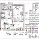 План розеток в дизайн проекте Малиевой Татьяны в ЖК Савеловский Сити, Москва 2018