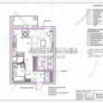 План отделки стен - дизайн проект ЖК Яуза Парк 2019