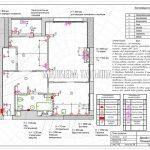 План розеток без мебели в дизайн проекте Малиевой Татьяны в ЖК Савеловский Сити, Москва 2018