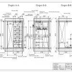 2 Разрез ЖК Рождественский гардеробная в спальне дизайн проект А-А Б-Б В-В