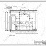 2 разрез А-А вид сбоку гостиной ЖК Пироговская Ривьера