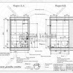 2 разрез А-А и Б-Б ванная комната дизайн проект ЖК Пироговская Ривьера