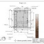 2 разрез ванной комнаты в ЖК РождественскийА-А