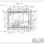 2 разрез гостиной дизайн проект в ЖК Рождественский А-А