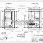 2 разрез туалета вид сбоку ЖК Пироговская Ривьера А-А и Б-Б
