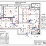 План выключателей без мебели дизайн проект Малиевой Татьяны ЖК Родионово Химки
