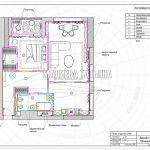 План отделки стен в дизайн проекте Малиевой Татьяны в ЖК Савеловский Сити, Москва 2018
