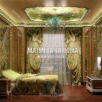 Дизайн гостевой спальни в оливковом цвете