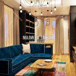Дизайн гостиной и кабинета в стиле лофт в таунхаусе