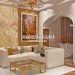 Дизайн классической гостиной в московской новостройке
