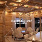 Классическая кухня в деревянном доме