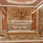 Дизайн классической спальни с фреском