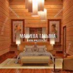 Мужская спальня в деревянном доме
