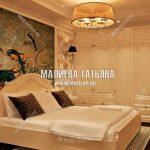 Женская спальня в классическом стиле с гардеробной