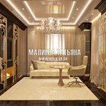Дизайн мужского темного кабинета в современном стиле