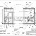 3 разрез В-В и Г-Г ванная дизайн проект ЖК Пироговская Ривьера