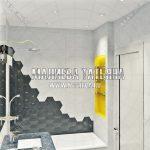 3d визуализация ванной комнаты к дизайн проекту в ЖК Эталон Сити Малиева Татьяна