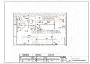 Дизайн проект 2019 Лобня: План мебели с размерами