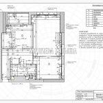План перепланировки в дизайн проекте Малиевой Татьяны в ЖК Савеловский Сити, Москва 2018