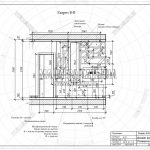 4 разрез В-В дизайн проект гостиной ЖК Пироговская Ривьера