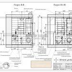 5 разрез В-В В1-В1 ванная в дизайн проекте ЖК Рождественский