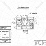6 — План освещения к ванной (дизайн проект в Лобне, Чайковского)