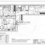 8 план мебели с размерами (Дизайн проект ЖК Эталон Сити)