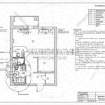 План привязки сантехники и радиаторов - дизайн проект ЖК Яуза Парк 2019