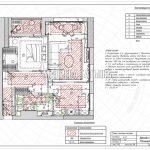 План теплых полов в дизайн проекте Малиевой Татьяны в ЖК Савеловский Сити, Москва 2018