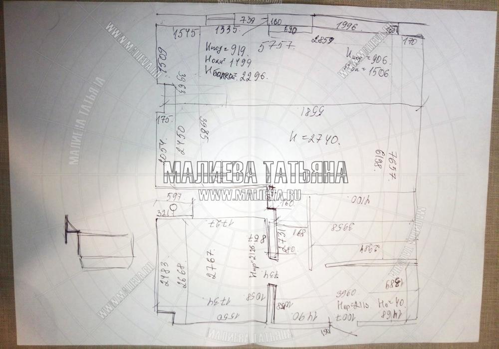 Замерный лист квартиры в Яуза Парк 2019 Малиева Татьяна