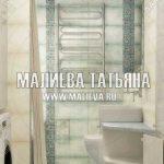 Бежевая ванная комната для семьи в Подмосковье