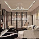 Дизайн интерьера гостиной в ЖК Савеловский Сити от Малиевой Татьяны 2018