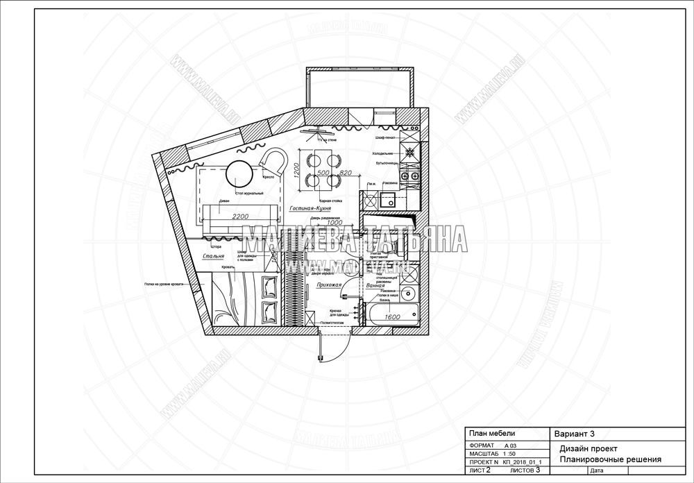 Дизайн интерьера планировка в Химках