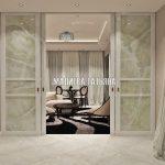 Гостиная с раздвижными дверьми от Малиевой Татьяны Савеловский Сити