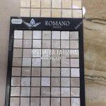 Сравнение вариантов мозайки и их сочетание с плиткой