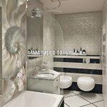 Ванная комната с биде в стиле Ар-Деко дизайн интерьера квартиры в ЖК Савеловский Сити от Малиевой Татьяны