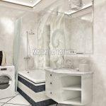 Дизайн ванной комнаты в ЖК Савеловский Сити от Малиевой Татьяны