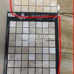 Выбор оттенка мозаики на пол кухни