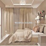 Женская спальня от дизайнера Малиевой Татьяны в ЖК Савеловский City